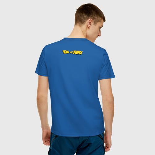 Мужская футболка с принтом Tom&Jerry, вид сзади #2