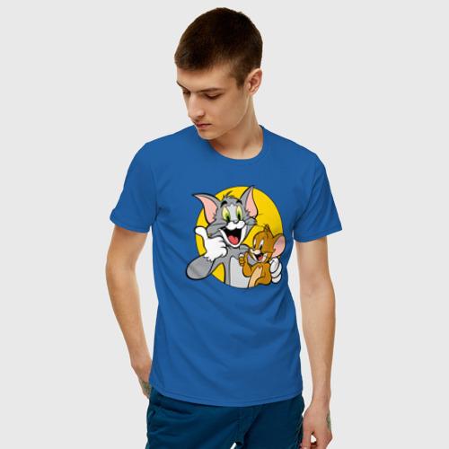 Мужская футболка с принтом Tom&Jerry, фото на моделе #1