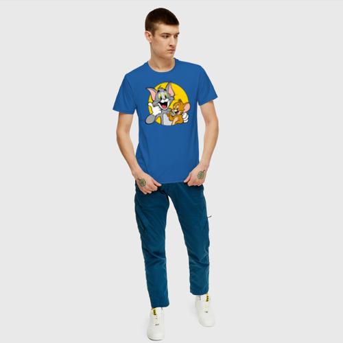 Мужская футболка с принтом Tom&Jerry, вид сбоку #3
