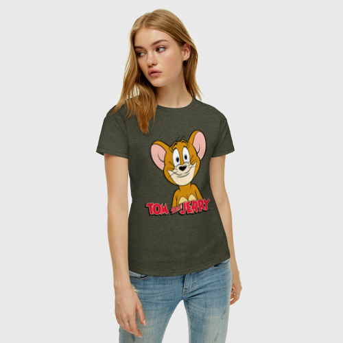 Женская футболка с принтом Jerry, фото на моделе #1