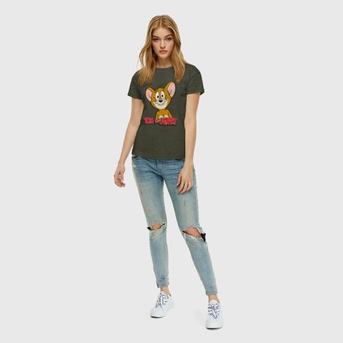 Женская футболка с принтом Jerry, вид сбоку #3