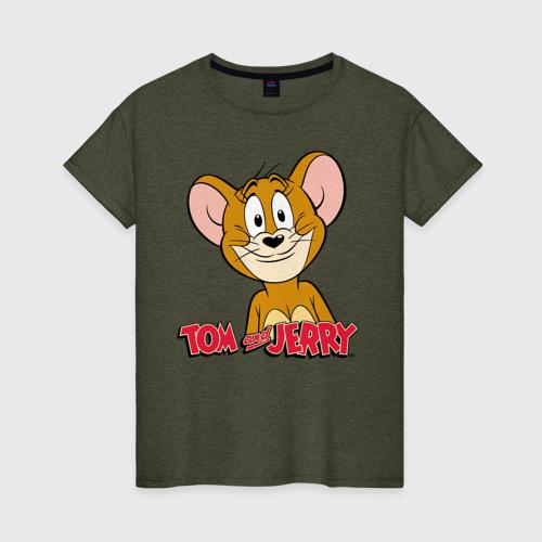 Женская футболка с принтом Jerry, вид спереди #2