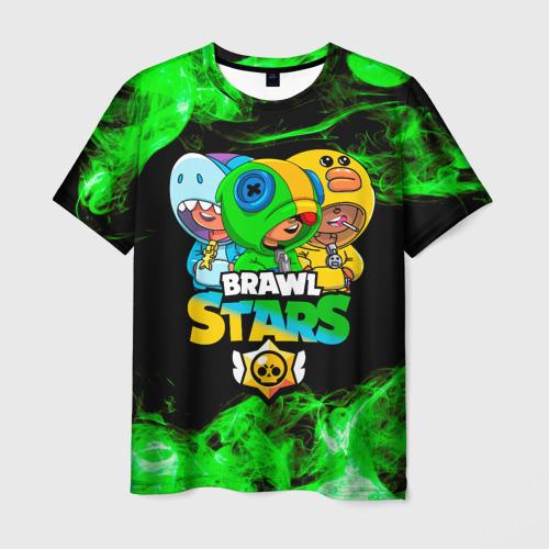 Мужская 3D футболка Brawl Stars Leon Trio