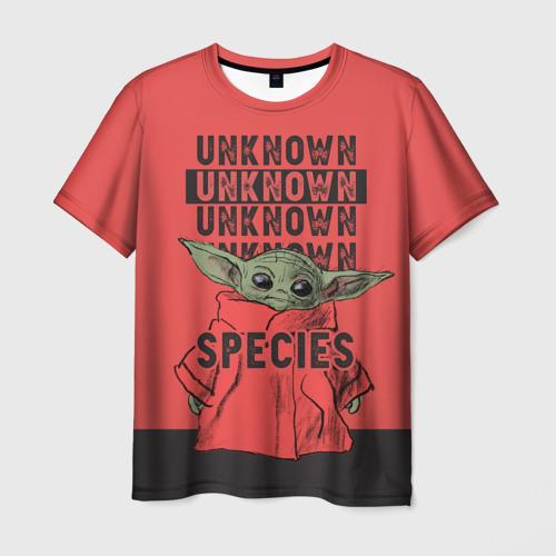 Мужская 3D футболка Child Yoda