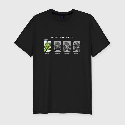 Мужская футболка премиум Черепашки ниндзя на денди