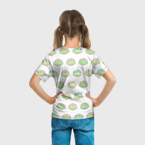Детская 3D футболка с принтом Черепашки-Ниндзя (19), вид сзади #2
