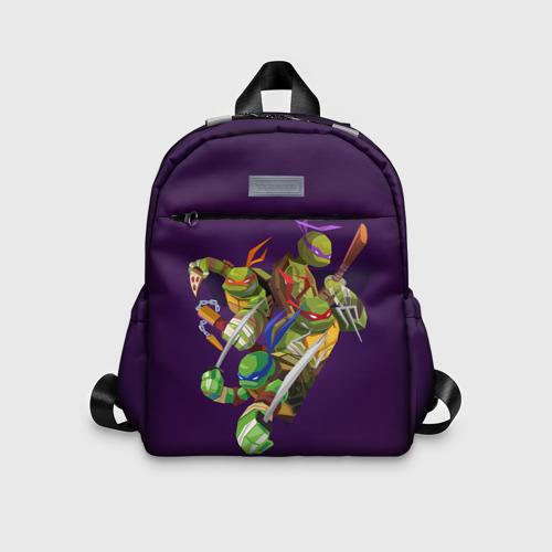 Детский рюкзак 3D с принтом ЧЕРЕПАШКИ НИНДЗЯ, вид спереди #2