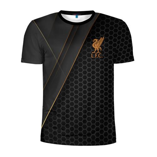 Мужская футболка 3D спортивная с принтом Liverpool FC, вид спереди #2