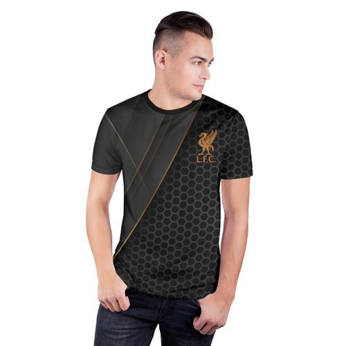 Мужская футболка 3D спортивная с принтом Liverpool FC, фото на моделе #1