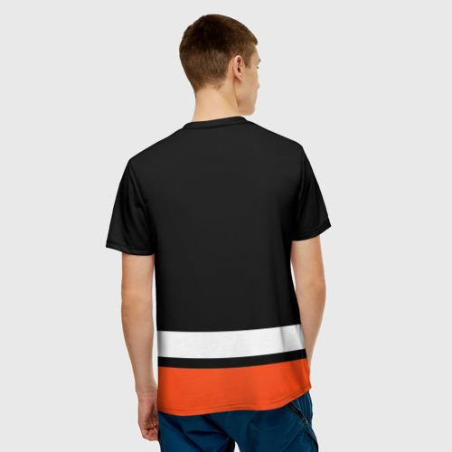 Мужская 3D футболка с принтом Филадельфия Флайерз, вид сзади #2