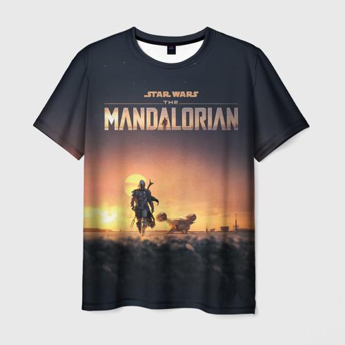 Мужская 3D футболка The Mandalorian