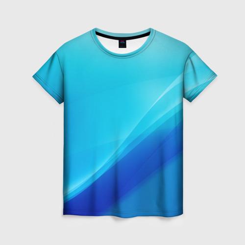 Женская 3D футболка Волна