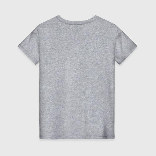 Женская футболка с принтом Purr Purr Purr, вид сзади #1
