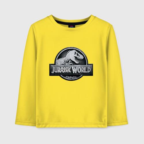 Детский хлопковый лонгслив с принтом Jurassic World | Мир юрского периода (Z), вид спереди #2