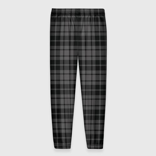 Мужские брюки 3D с принтом Шотландская клетка, вид сзади #1