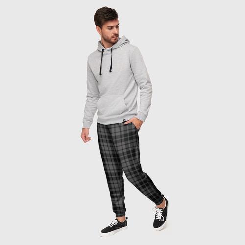 Мужские брюки 3D с принтом Шотландская клетка, фото на моделе #1