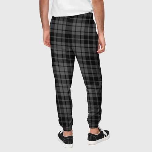 Мужские брюки 3D с принтом Шотландская клетка, вид сзади #2