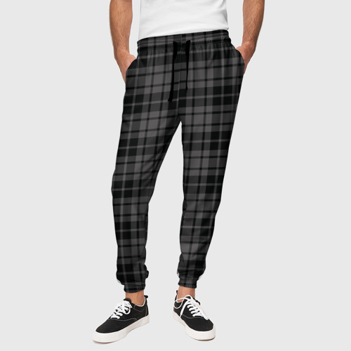 Мужские брюки 3D с принтом Шотландская клетка, вид сбоку #3