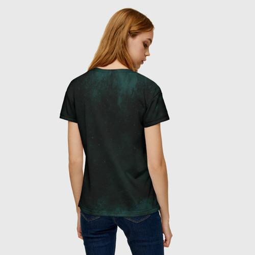 Женская 3D футболка с принтом Гарри Поттер, вид сзади #2