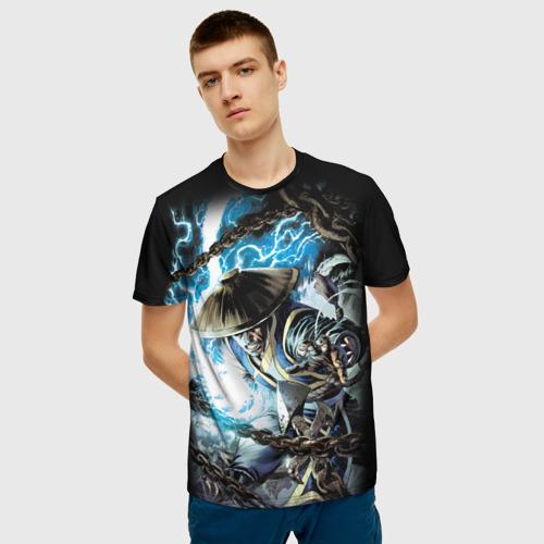 Мужская 3D футболка с принтом Raiden, фото на моделе #1