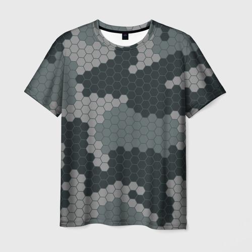 Мужская 3D футболка КАМУФЛЯЖ СОТЫ