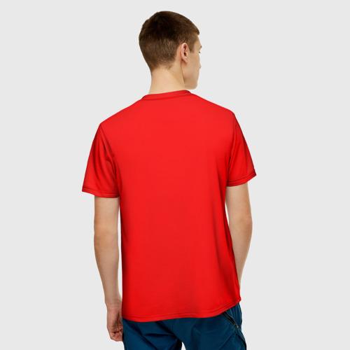 Мужская 3D футболка с принтом Dead by Daylight, вид сзади #2