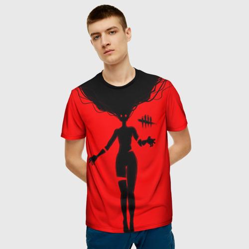 Мужская 3D футболка с принтом Dead by Daylight, фото на моделе #1