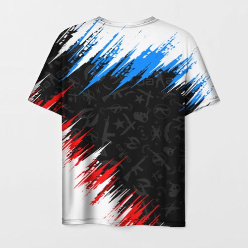 Мужская 3D футболка с принтом CS GO, вид сзади #1