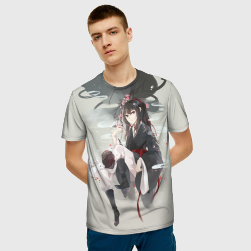 Мужская 3D футболка с принтом Вэй Усянь, фото на моделе #1