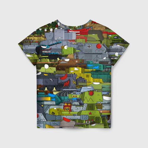 Детская 3D футболка с принтом Геранд шоп-Мир танков, вид сзади #1