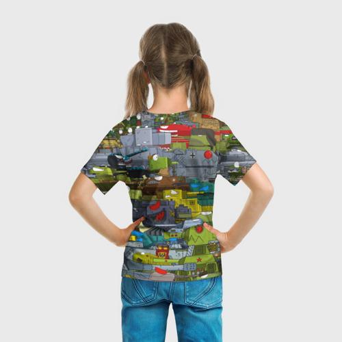 Детская 3D футболка с принтом Геранд шоп-Мир танков, вид сзади #2