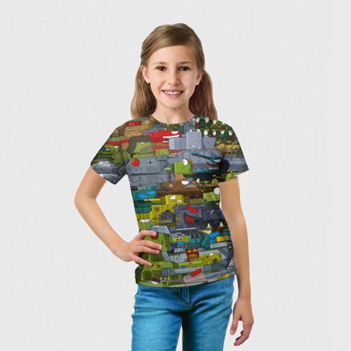 Детская 3D футболка с принтом Геранд шоп-Мир танков, вид сбоку #3