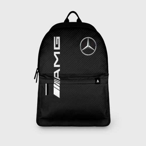 Рюкзак 3D с принтом MERCEDES-BENZ AMG CARBON, вид сбоку #3