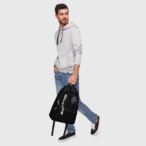 Рюкзак 3D с принтом MERCEDES-BENZ AMG CARBON, фото #5