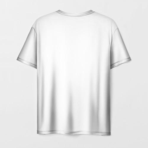 Мужская 3D футболка с принтом Череп повар, вид сзади #1