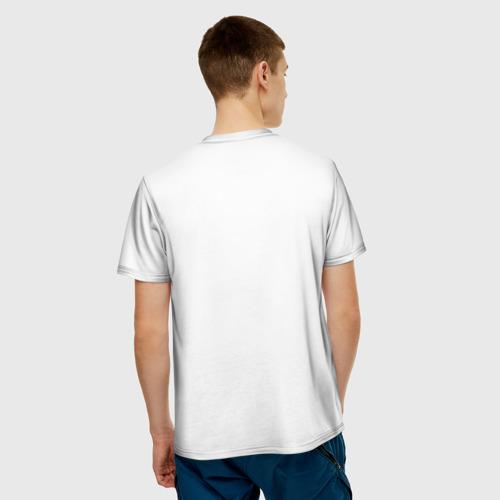 Мужская 3D футболка с принтом Череп повар, вид сзади #2