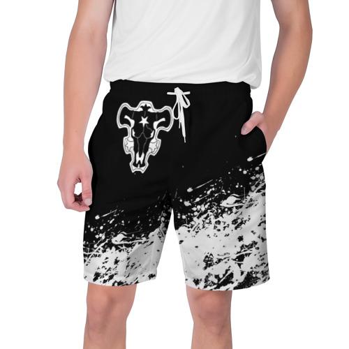 Мужские шорты 3D Черный Клевер (Черный Бык) 6