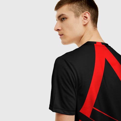 Мужская 3D футболка с принтом Assassin's Creed  [02], вид сзади #2