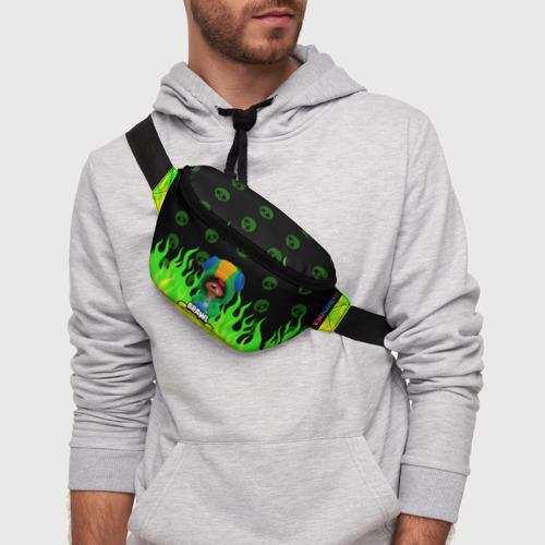 Поясная сумка 3D с принтом Brawl Stars LEON, фото на моделе #1