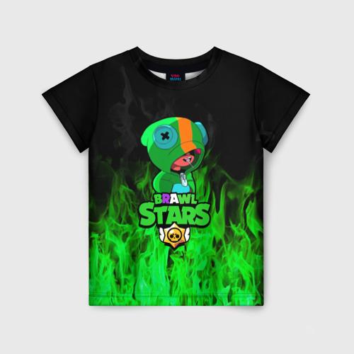 Детская 3D футболка Леон из Бравл Старс