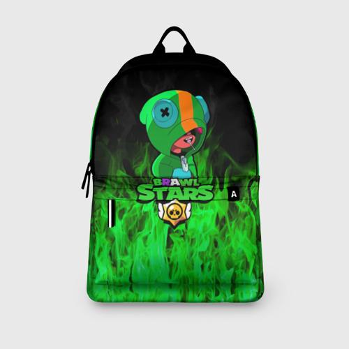 Рюкзак 3D с принтом Леон из Бравл Старс, вид сбоку #3