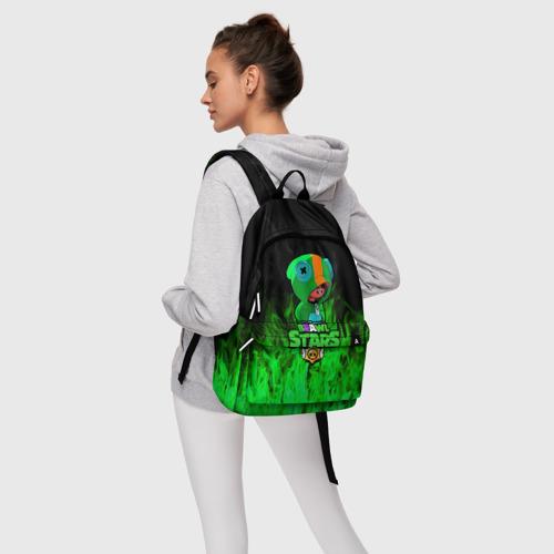 Рюкзак 3D с принтом Леон из Бравл Старс, фото #4