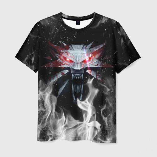Мужская 3D футболка ВЕДЬМАК (НА СПИНЕ) КОГТИ