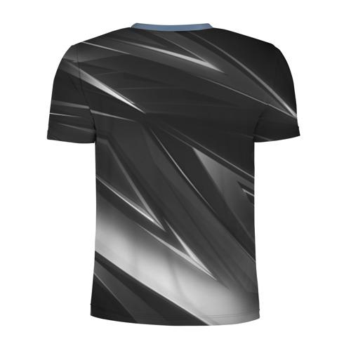 Мужская футболка 3D спортивная с принтом РОССИЯ, вид сзади #1