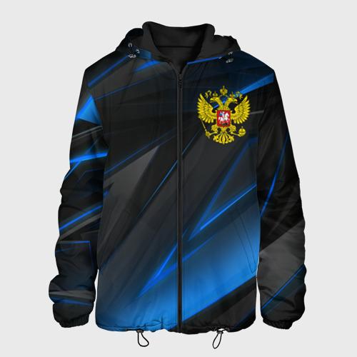 Мужская куртка 3D с принтом РОССИЯ, вид спереди #2