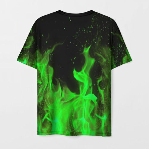 Мужская 3D футболка с принтом MONSTER ENERGY, вид сзади #1