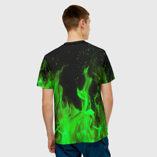Мужская 3D футболка с принтом MONSTER ENERGY, вид сзади #2