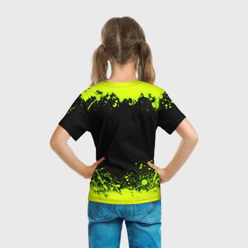 Детская 3D футболка с принтом MONSTER ENERGY, вид сзади #2