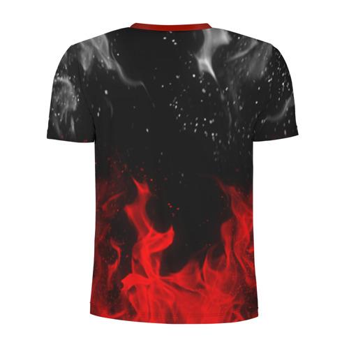 Мужская футболка 3D спортивная с принтом MITSUBISHI SPORT, вид сзади #1
