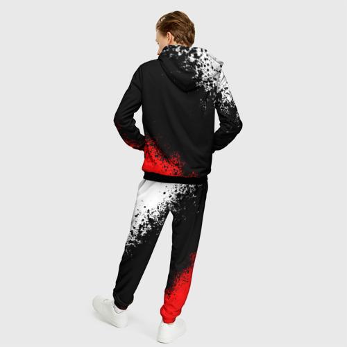 Мужской 3D костюм с принтом MITSUBISHI SPORT, вид сзади #2